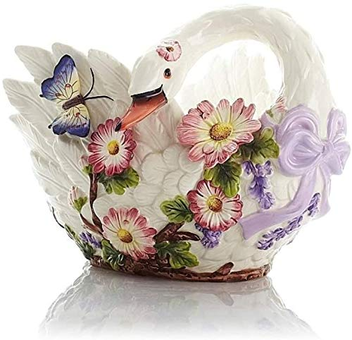 Bakken for vruchten, Swan Creative Fashion Fruit Basket Groot Candy Plate Europees Keramisch Large In Tapas Schalen, Ceramic Candy Box vak met LidSimple Living Room Startpagina Creative Mooie en prakt