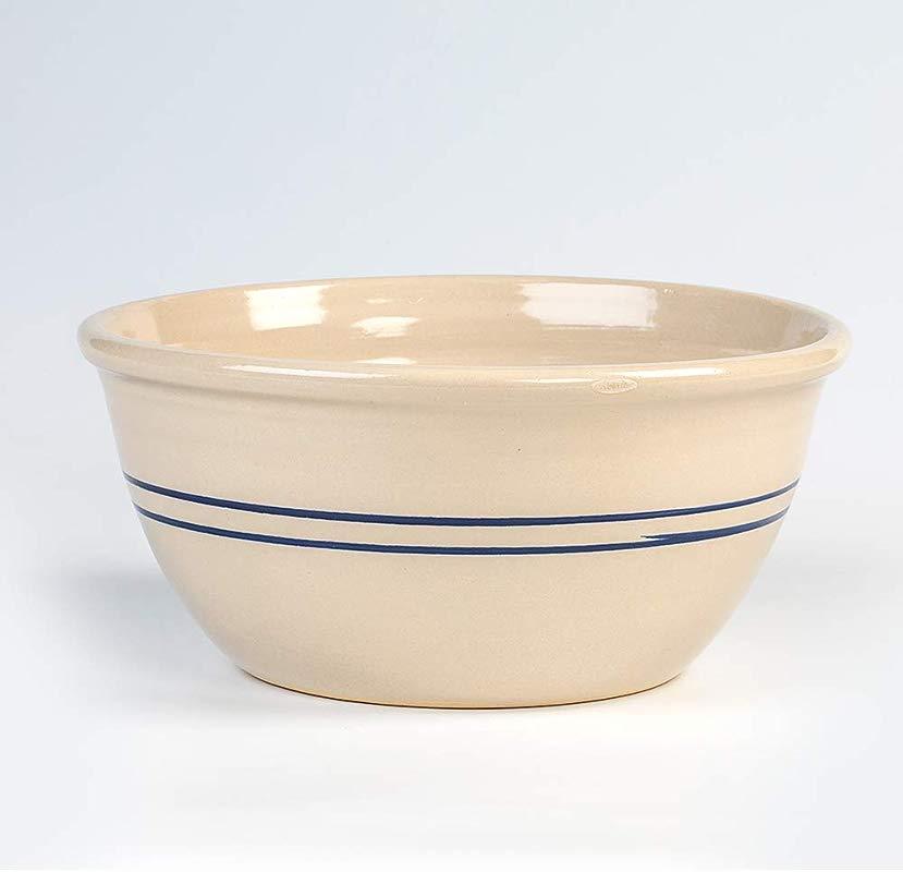 Heritage Blue Stripe Stoneware Mixing Bowl 14