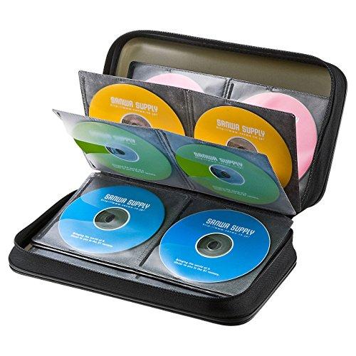 サンワサプライ メディアケース Blu-ray対応 セミハード BD/DVD/CD 96枚収納 ブラック FCD-WLBD96BK