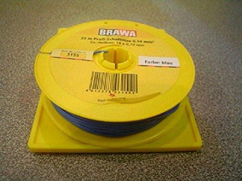 Brawa 3155 Schaltlitze 0,14 mm², 25 m Spule, blau