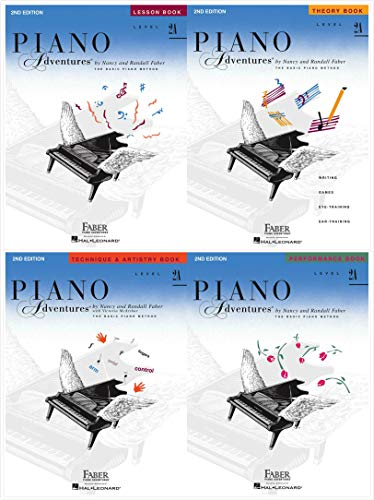 Faber Piano Adventures Level 2A Set (4 Books) 2nd Edition - Lesson, Theory, Technique & Artistry, Performance