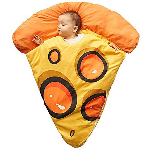 BSWL Baby-Baumwoll-Thermostat-Schlafsack, Cartoon-Pizza-Fruchtmuster, Herbst- Und Winter-Baby-Anti-Kick-Schlafsack-Foto-Requisiten,Gelb,Thick Style