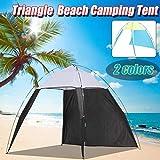 Desconocido 4-8 Persona portátil Pérgola Tienda al Aire Libre a Prueba de Viento Verano UV Lona Sombrilla Camping Pesca Triángulo Playa Cabaña...