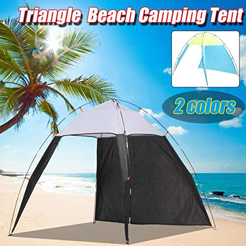 4-8 Portable Person Pergola Windproof Outdoor Tent Summer UV Tarp Sun Shade Camping Fishing Triangle Beach Cabana Tent Canopy