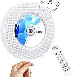 Fonction 7 en 1: Il peut être utilisé comme lecteur de CD portable, haut-parleur Bluetooth 4.2 HiFi, radio FM, lecteur de musique pour carte TF, lecteur de lecteur flash USB, lecteur audio 3,5 mm, réveil. Largement compatible avec les formats CD, CD-...
