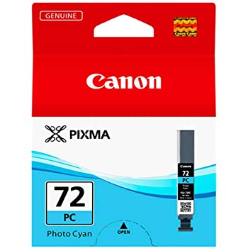 1 x pigmented photo cyan Canon PGI-72PC Ink tank