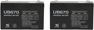 Universal Power Group 6 Volt 7.0 Ah Rechargeable Battery - 2 Pack