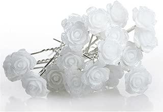 white flowers for hair
