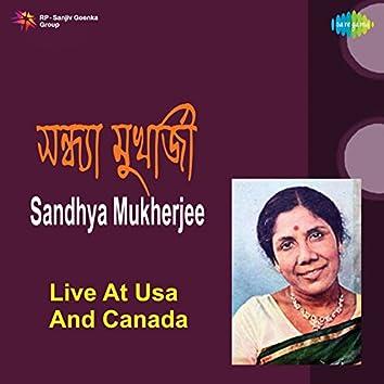 Live at USA and Canada - Sandhya Mukherjee