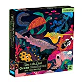 Mudpuppy Ocean Illuminated 500 Piece Glow in The Dark Jigsaw Puzzle for Kids and Families, Family Puzzle with Glow in The Dark Ocean Theme