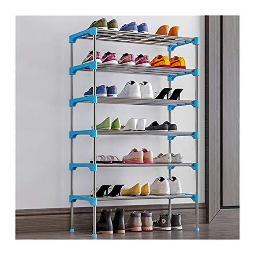 A-YSJ Zapatero Zapato de gabinete en Rack de Almacenamiento Soporte del Zapato Organizador Estante for Zapatos Mueble de casa Meuble (Color : 6 Layer Blue)