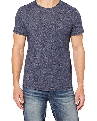 Tommy Jeans Herren Tjm Essential Jaspe Tee T shirt, Dunkelgrau meliert, X-Large