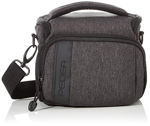 Price comparison product image PEDEA DSLR Camera Bag Fashion Camera Bag for SLR Cameras with Waterproof rain Cover,  Carrying Strap and Accessory compartments,  Size L,  Black