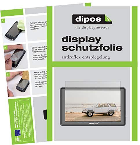 dipos I 3X Schutzfolie matt kompatibel mit AWESAFE GPS Navi 7 Zoll Folie Bildschirmschutzfolie
