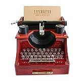 Poetic-House Boîte à Musique, Forme de Machine à écrire Vintage boîte à...