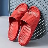 WXDP, pantofole calde, ergonomiche, infradito con punta a perizoma, fondo morbido, silenzioso, antiscivolo, antiscivolo, 39-40_Red,Drain Quick Bathroom Mule 20