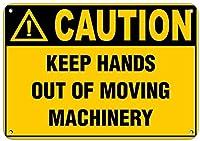 165グレートティンサインアルミニウム注意移動機械の危険ラベルに手を近づけないでください屋外および屋内サイン壁の装飾12x8インチ