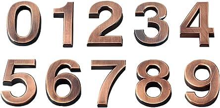 GARNECK 10Pcs Mailbox Deur Adres Nummers 5Cm 0 Tot 9 Stereoscopische Stickers Voor Appartement Huis Kamer Hekje Brons