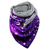 2021 Trend Scarves Bib Muffle Neckerchief Winter Women Print Button Soft Wrap Casual Warm Shawls