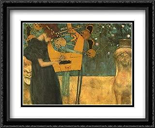 Music, c.1895 2X Matted 36x28 Large Black Ornate Framed Art Print by Gustav Klimt