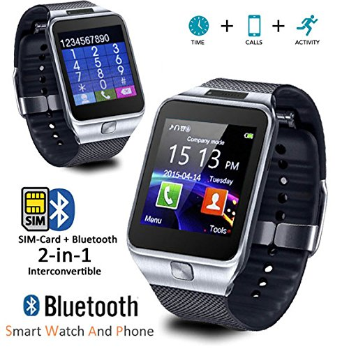 Amazon.com: Indigi Universal Compatible (iOS & Android) GSM Wireless SmartWatch & Phone (2 in 1) w/Built in Camera + Notifications: Cell Phones & ...