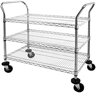 Sandusky Lee MWS361838 Adjustable Wire Shelf Cart with Pull Handle, 800 lb. Maximum Capacity, 38