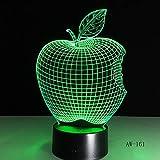 Led Night Lights 3D,3D Apple Form Led Farbwechsel