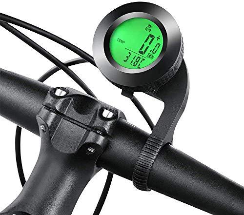 GESTAND Fahrradcomputer Kabellos Wasserdicht Fahrradtachometer mit 3 Hintergrundbeleuchtung Wasserdicht Fahrradtacho Display Kilometerzähler mit Bewegungssensor Radcomputer Kilometerzähler
