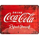 Nostalgic-Art Cartel de Chapa Retro Coca-Cola – Logo Red – Idea de...