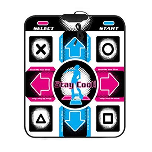 FOY Usb11 Tappetino da Ballo con Chiave Versione Inglese Tappetino da Ballo Singolo per Computer Plug And Play Multicolor
