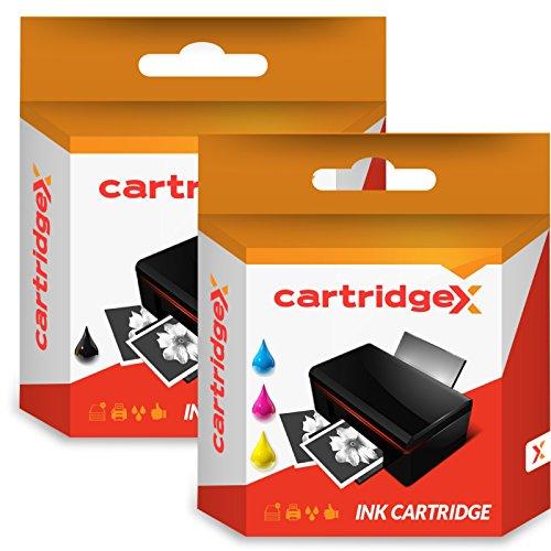 Cartridgex Schwarz und Farbe Wiederaufbereitet Tintenpatrone Ersatz für HP 301XL Deskjet 1000 1010 1050