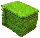NatureMark 10x, 100% Baumwolle Waschhandschuhe, apfelgrün, 10er Pack 15x21cm, 10