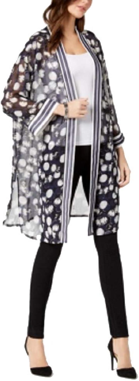 Alfani Printed Sheer Kimono Jacket