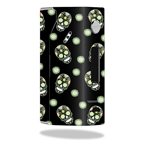 MightySkins Skin Compatible with Wismec Reuleaux RX200 – Nighttime Skulls | Protective, Durable, and Unique Vinyl Decal wrap Cover | Easy to Apply, Remove, and Change Styles | Made in The USA