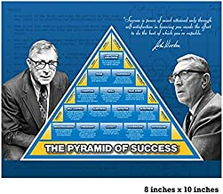 8X10 OFFICIAL PYRAMID OF SUCCESS LAMINATED POSTER