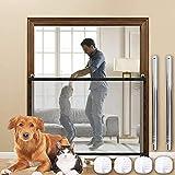 SEGMINISMART Puerta Mágica para Perros,Magic Gate Dog, Puerta Mágica para Perros, Barrera para Perro,Portón portátil y Plegable para Separar bebés y Mascotas