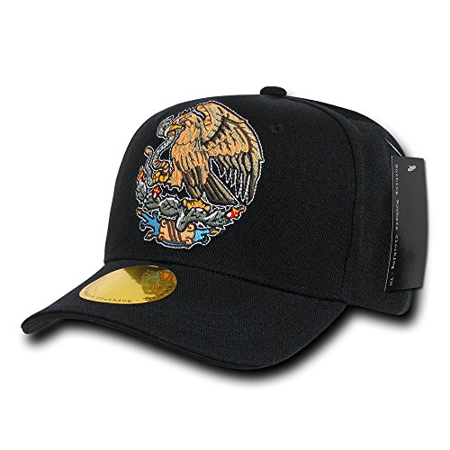 Nothing Nowhere Curve Bill Eagle - Gorra para Hombre, Color Negro, Talla n/a