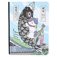 224ページを書くためのノートブックハンドドローノートブックジャーナルパッド(Fish banner)