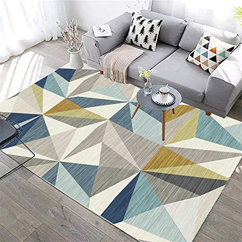 DJHWWD Chair Rug Carpet gray blue dense triangle pattern modern style rug durable Small Rugs Rugs Living Room blue 200X300CM