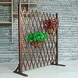 NLMWL-Y Recinzione in legno anticorrosione, barriera estesa separazione spaziale, recinzione decorativa estesa per esterni, 70 x 120 cm, marrone