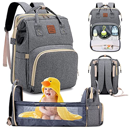 Everson Babies - Multifunctional Diaper Bag Backpack - Waterproof Nappy Bag with Changing Station for Mom and Dad - Large Capacity and Stylish Organizer for Baby Care