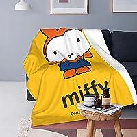 ミッフィー (17) ブランケット 防寒 ひざ掛け 毛布 かわいい オールウェザー 暖かい 肩掛け 防寒 ソフトで快適な昼食休憩 軽くて通気性があり、抜け毛がなく、可愛い プレゼント 子供 大人