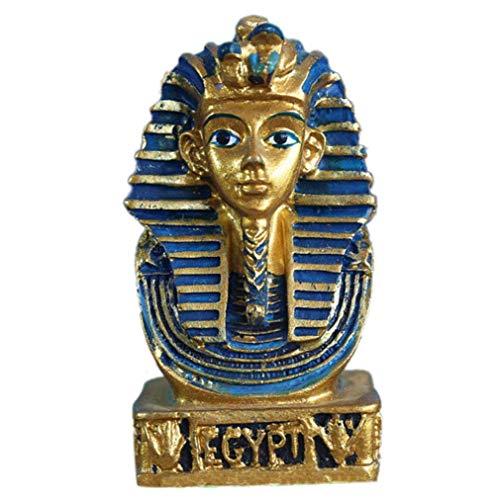Aisoway Suministros Retro Resina Faraón Egipcio Adornos Micro Paisaje Decoraciones