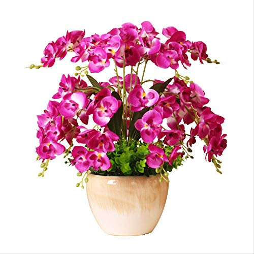 DZDJA Simulazione Fiore Farfalla Orchidea Soggiorno Salotto Tavolo da Pranzo Casa Tavolo da Pranzo Decorato Plastica Falso Fiore Secco Orchidea Pianta Decorazione Fiore Fresco