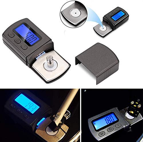 Baiye LCD Digitale toonarmweegschaal, digitale turntable Stylus Force meetapparaat gauge tester voor geluidsabsorberende geluidsplaten voor geluidsarm van platenspeler 0,01 g zeer gevoelig