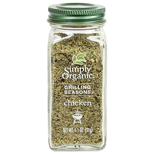 Simply Organic Chicken Grilling Seasons, Certified Organic, Vegan, Vegetarian | 1.1 oz