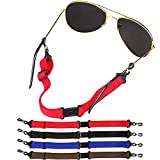 [4 Pack] Adjustable Eyeglasses and Sunglasses Holder Strap Cord for Sports, Tomorotec Anti-slippery Eyeglass Retainer with One Free Microfiber Cleaning Cloths(4 Pack)