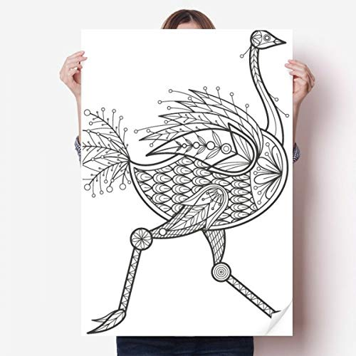 DIYthinker Vogel Farbe Lauf Lange Vinylwand-Aufkleber-Plakat-Wand Tapete Raum Aufkleber 80X55Cm 80cm x 55cm Mehrfarbig
