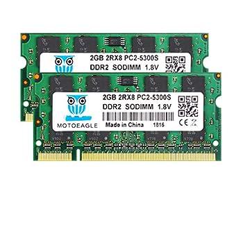 DDR2 667 PC2-5300 SODIMM RAM 4GB Kit  2GBX2  Motoeagle PC2-5300S CL5 200-Pin Non-ECC Unbuffered Notebook Laptop Memory Modules