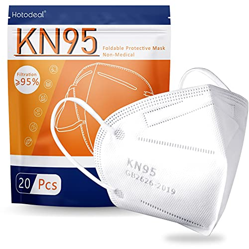 Hotodeal KN95 Face Mask 20 PCS,5 Layers Cup Dust...